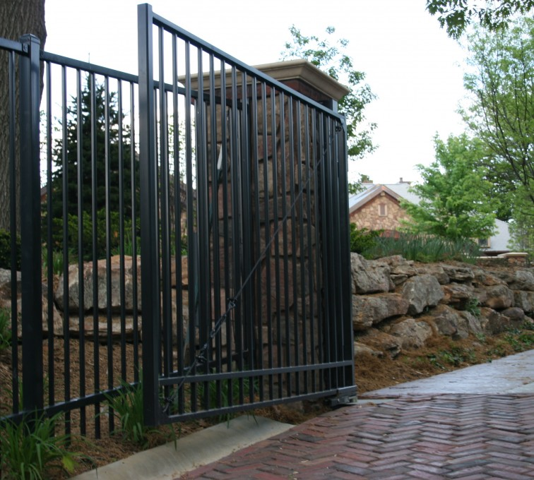 Kansas City Fence Company - Custom Gates, Estate Double Drive Gate