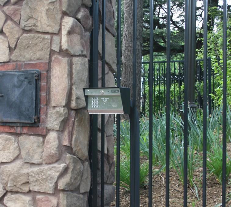 Kansas City Fence Company - Custom Gates, Estate Telephone Entry, Column and Postal Box