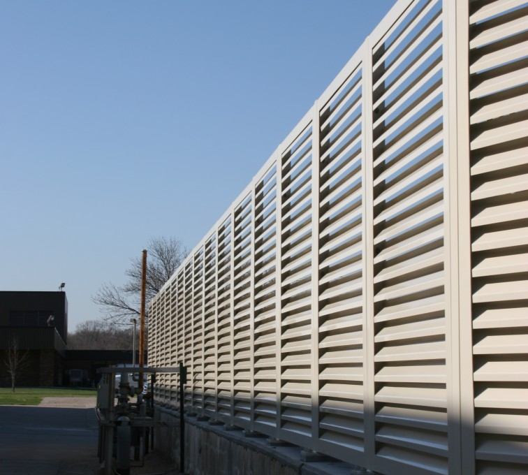 AFC Grand Island - Louvered Fence Systems Fencing, Louvered Fence Panel Top Cap
