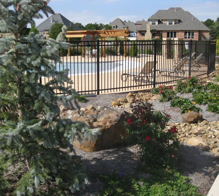 Kansas City Fence Company - American Ornamental Fencing, Flat Top @ pool (2)