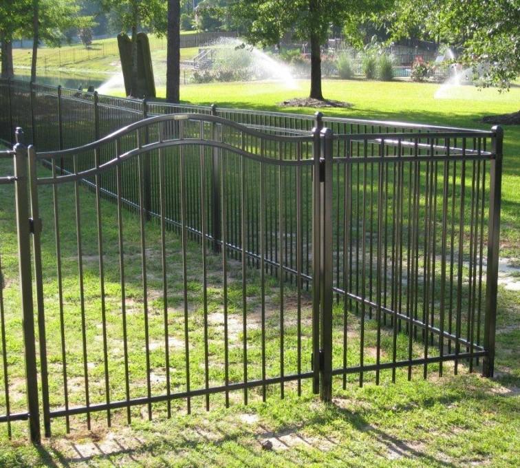 Kansas City Fence Company - American Ornamental Fencing, Flat Top @ pool