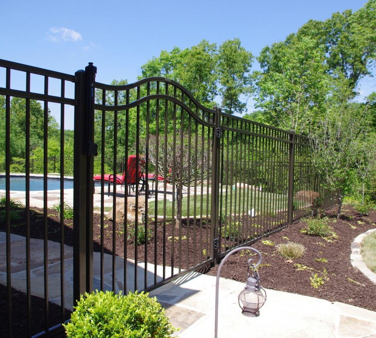 Kansas City Fence Company - American Ornamental Fencing, Flat Top with Arched gate