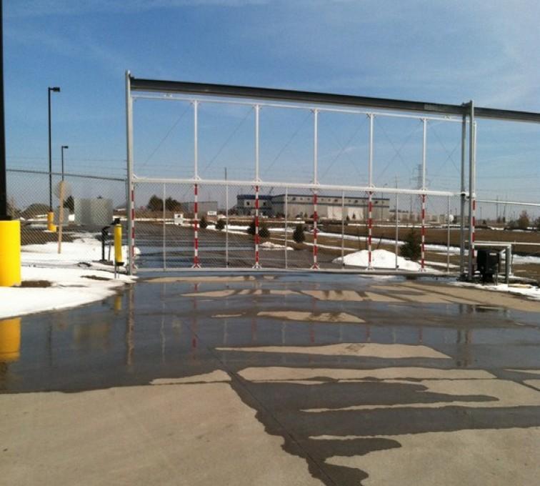 Kansas City Fence Company - Custom Gates, Overhead Track Gate - AFC - IA