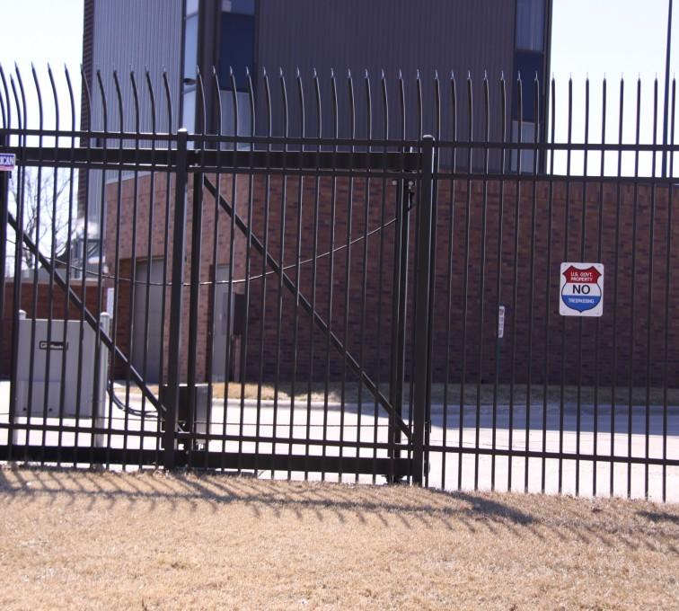AFC Grand Island - Custom Gates, Ornamental Slide Gate (2)