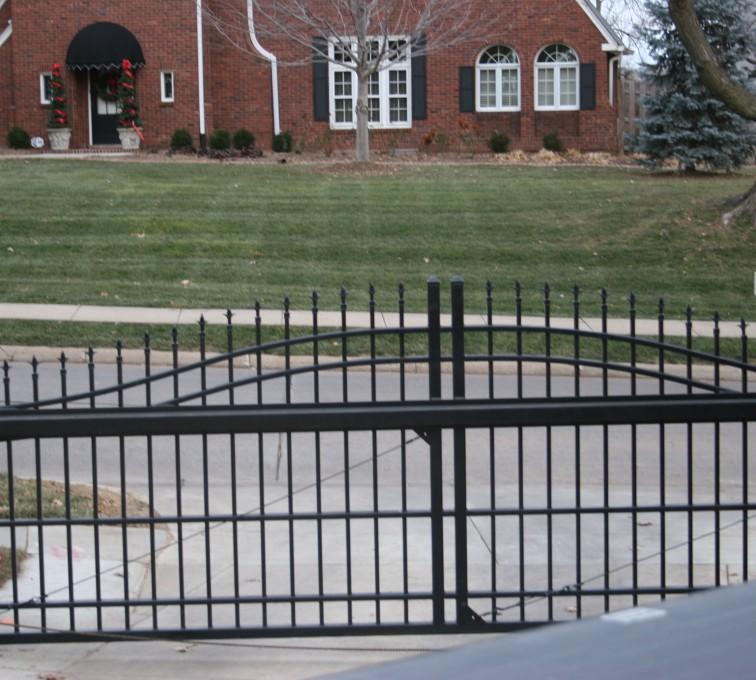 Kansas City Fence Company - Custom Gates, Overscallop Cantilever Slide Gate