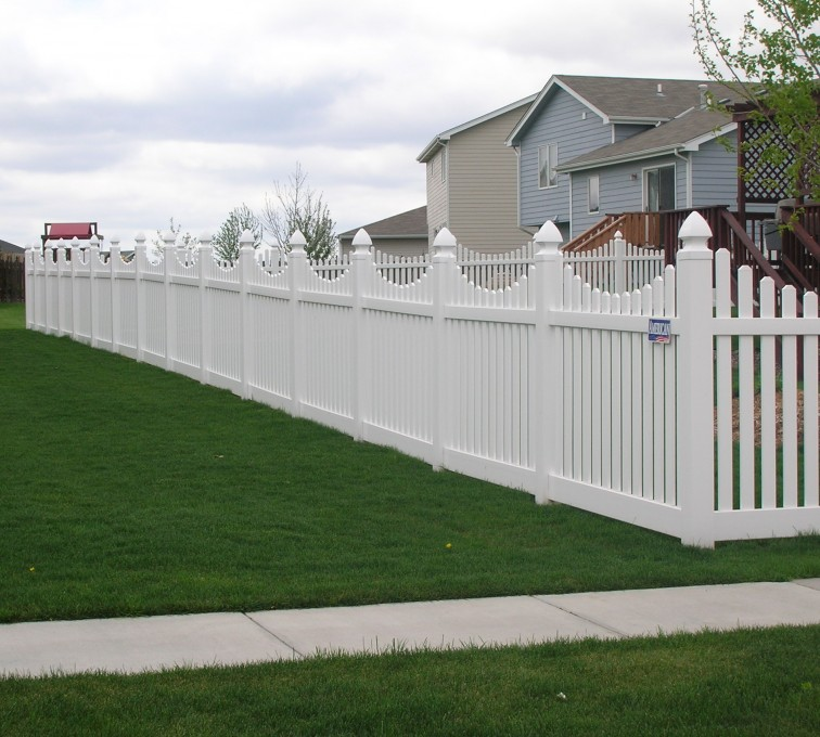 AmeriFence Corporation Kansas City - Vinyl Fencing, Underscalloped picket pvc