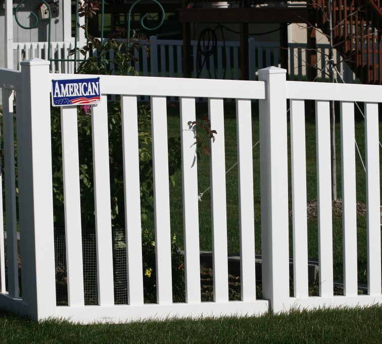 AmeriFence Corporation Kansas City - Vinyl Fencing, 4' closed rail picket 585