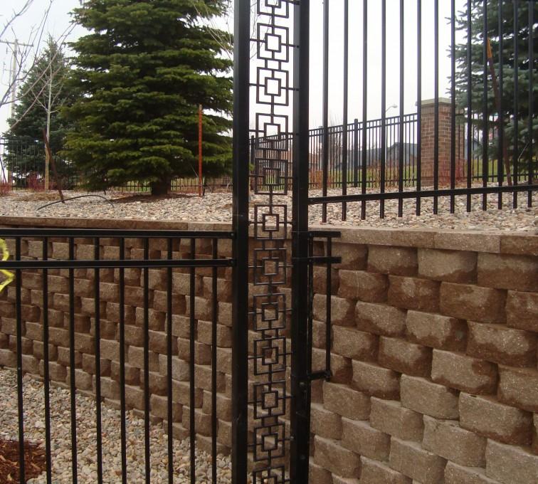 Kansas City Fence Company - Custom Iron Gate Fencing, Window pane transition