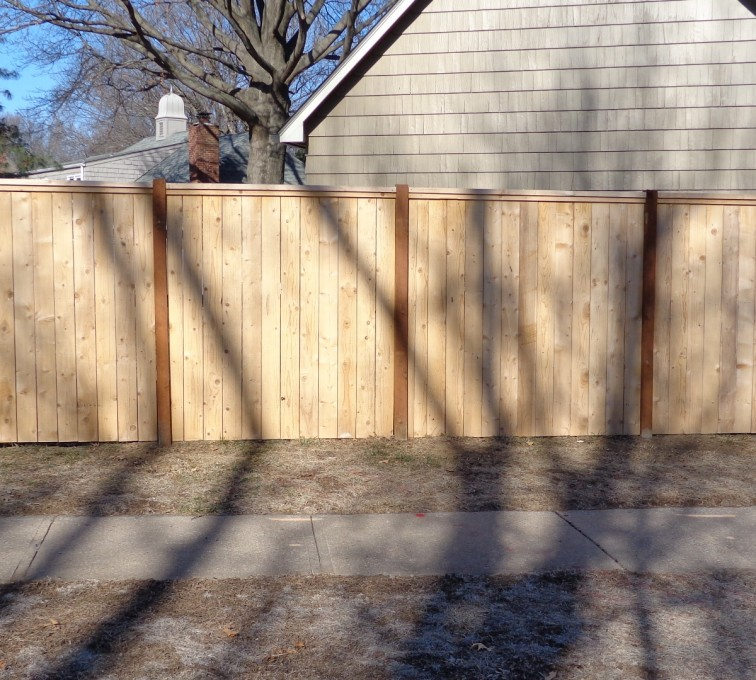 AmeriFence Corporation Kansas City - Wood Fencing, 6' Privacy with Cap Board - AFC-KC