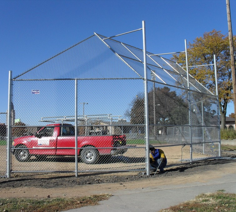 AFC Grand Island - Sports Fencing, Backstop