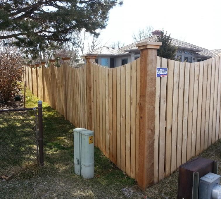 AmeriFence Corporation Kansas City - Wood Fencing, Custom WD 9922 Devonshire