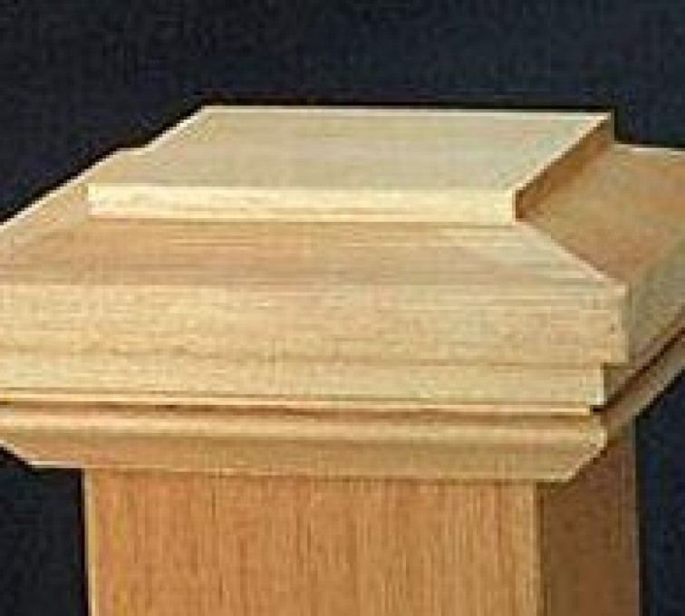 AmeriFence Corporation Kansas City - Accessories, Hatteras Style Cedar Wood Fence Post Cap