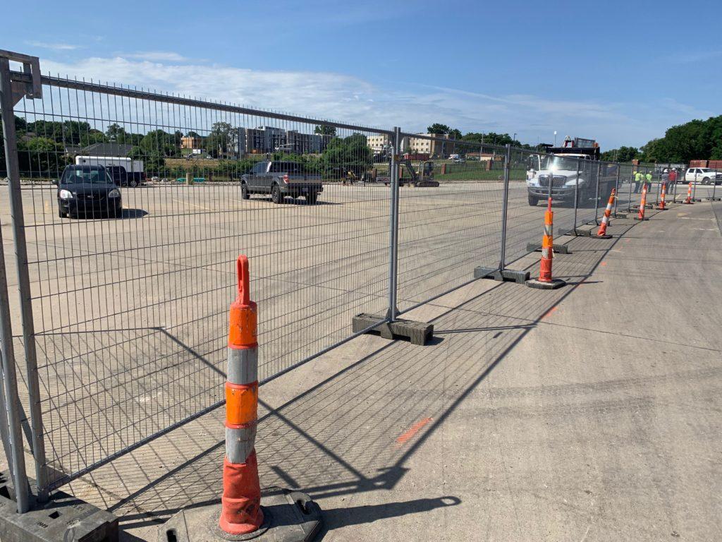 Heras Anti-Climb temp fence installed around Readiness Center
