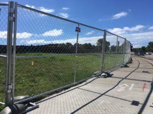Chain link rental fencing