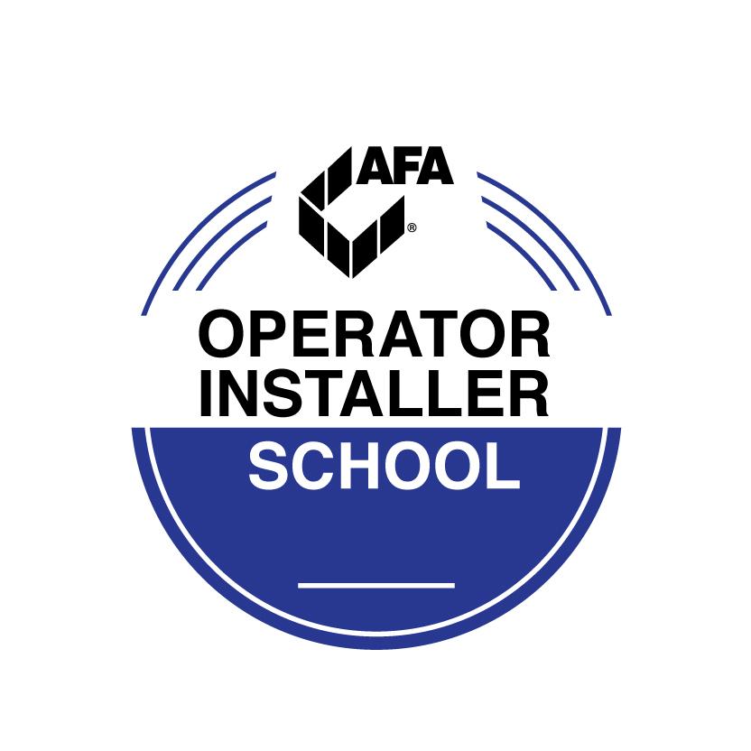 Logo for AFA's operator installer school