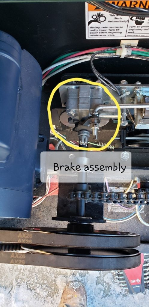 Brake assembly for an automated gate