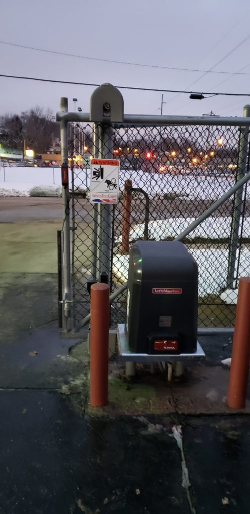 Liftmaster sliding gate operator installed by American Fence Company
